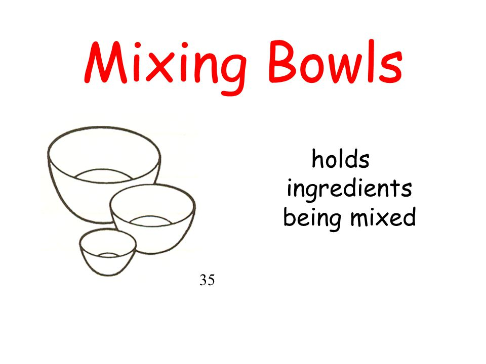 holds ingredients being mixed