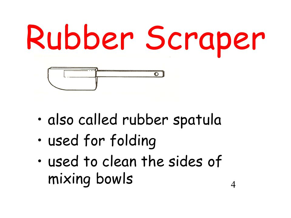 Rubber Scraper also called rubber spatula used for folding