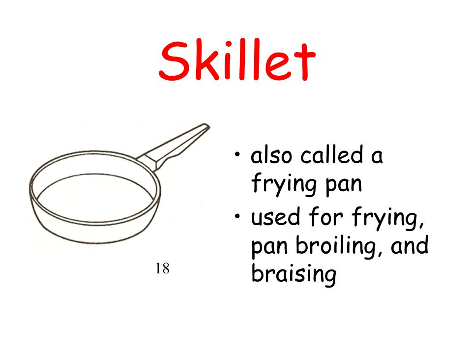 Skillet also called a frying pan