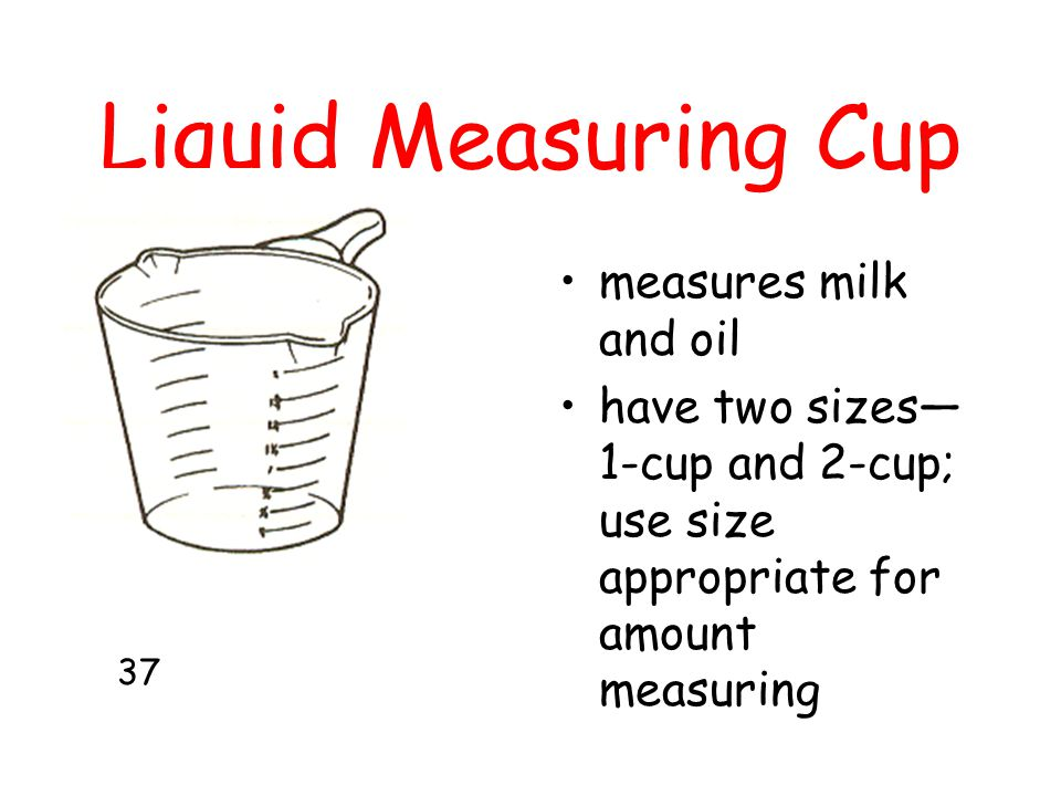 Liquid Measuring Cup measures milk and oil