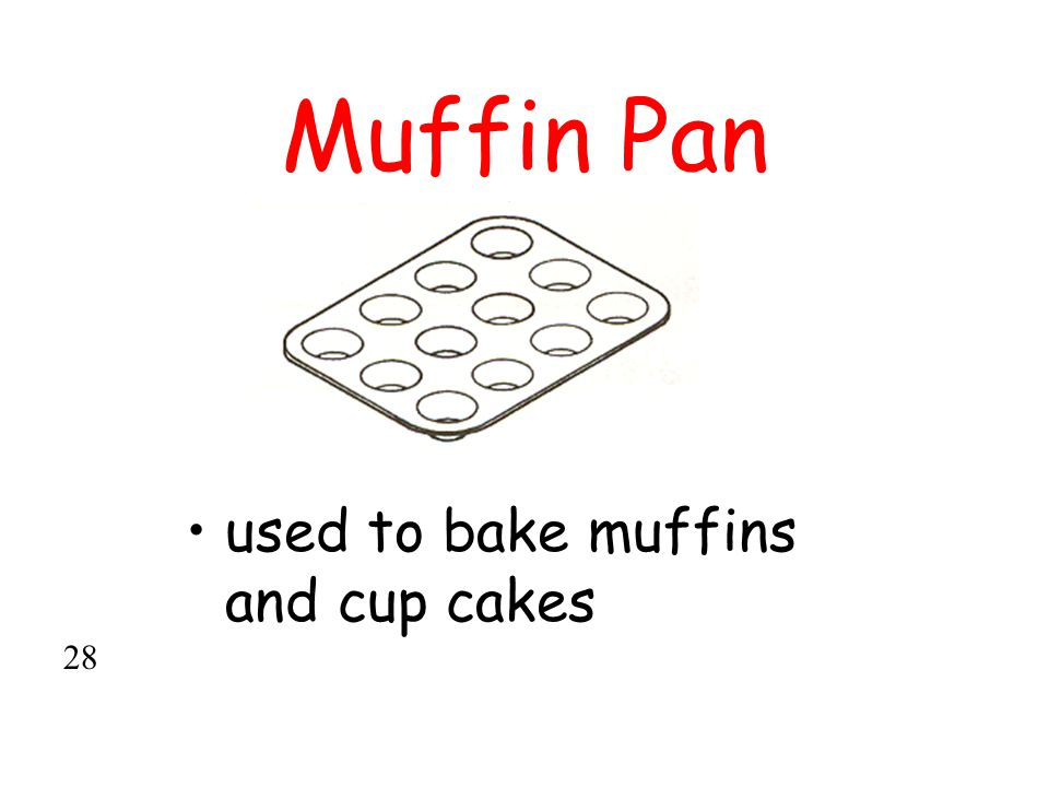 Muffin Pan used to bake muffins and cup cakes 28