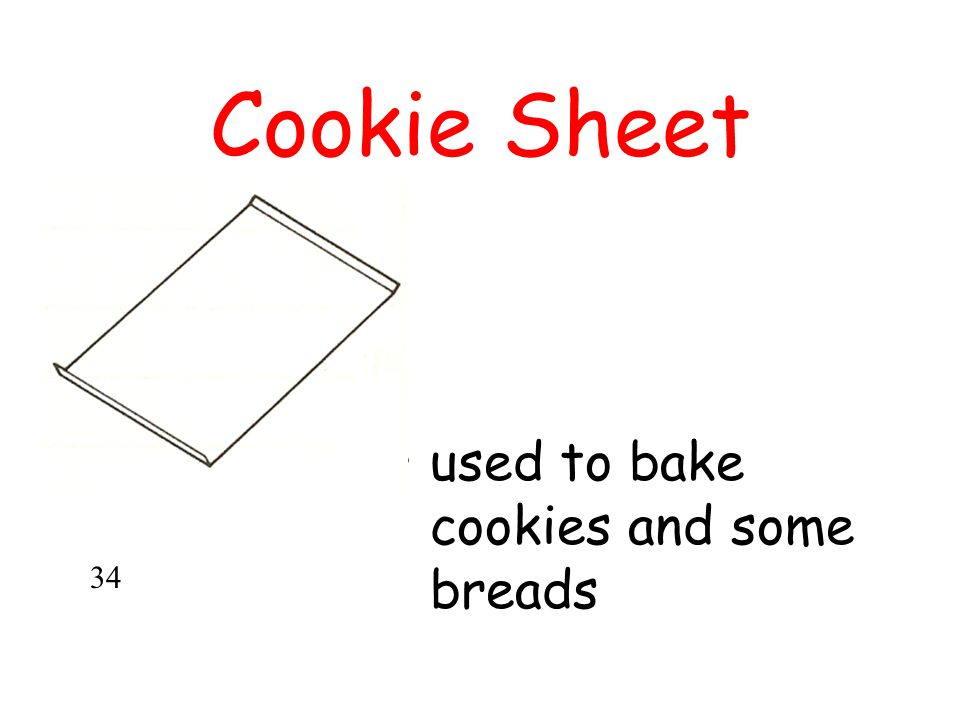 Cookie Sheet used to bake cookies and some breads 34