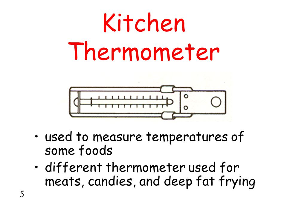 Kitchen Thermometer used to measure temperatures of some foods