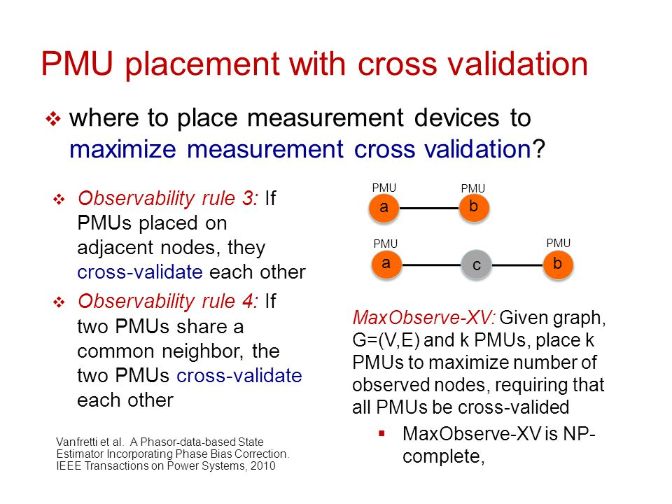PMU placement with cross validation