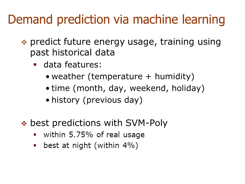 Demand prediction via machine learning