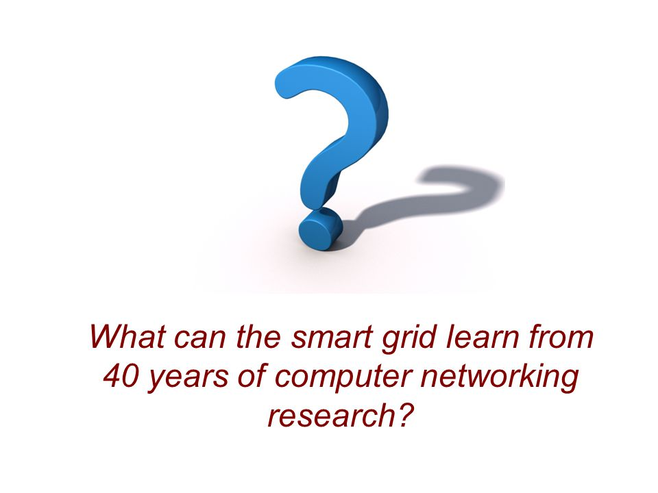 What can the smart grid learn from 40 years of computer networking research