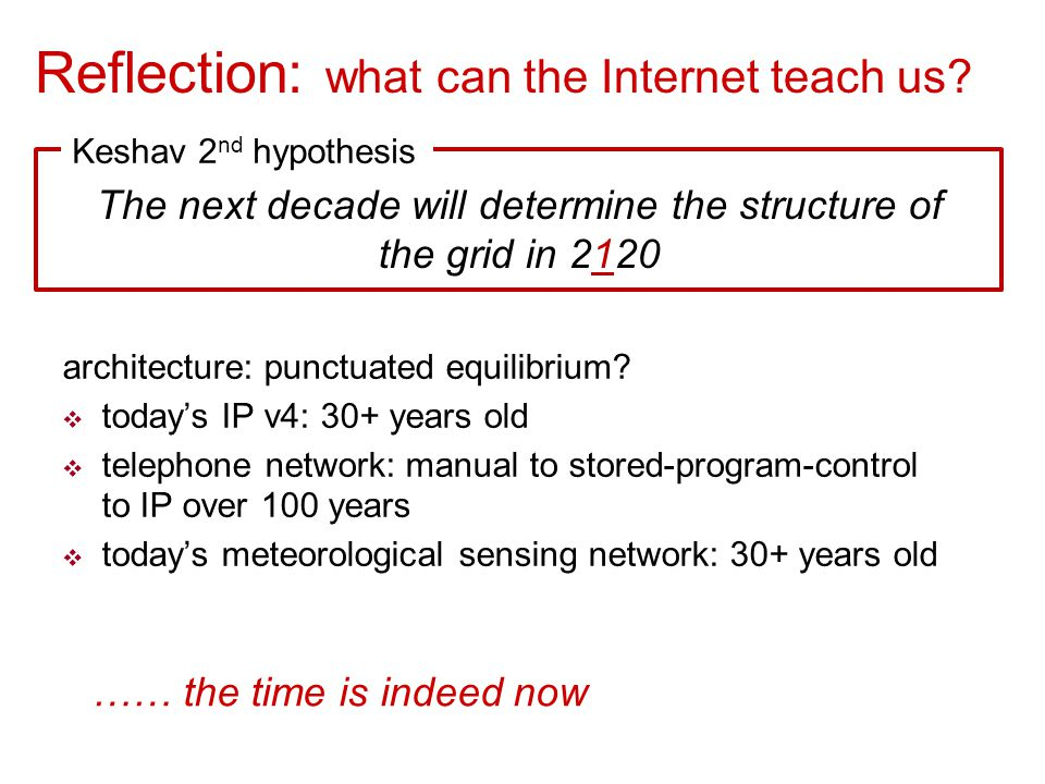 The next decade will determine the structure of the grid in 2120