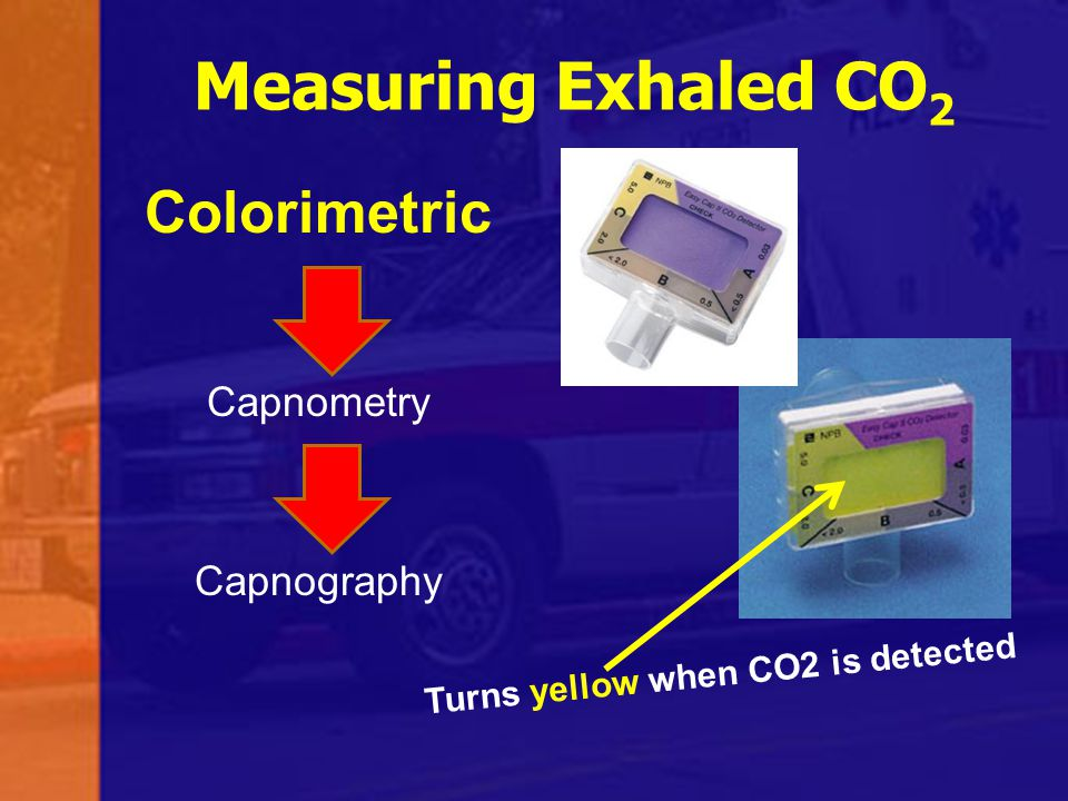 Turns yellow when CO2 is detected