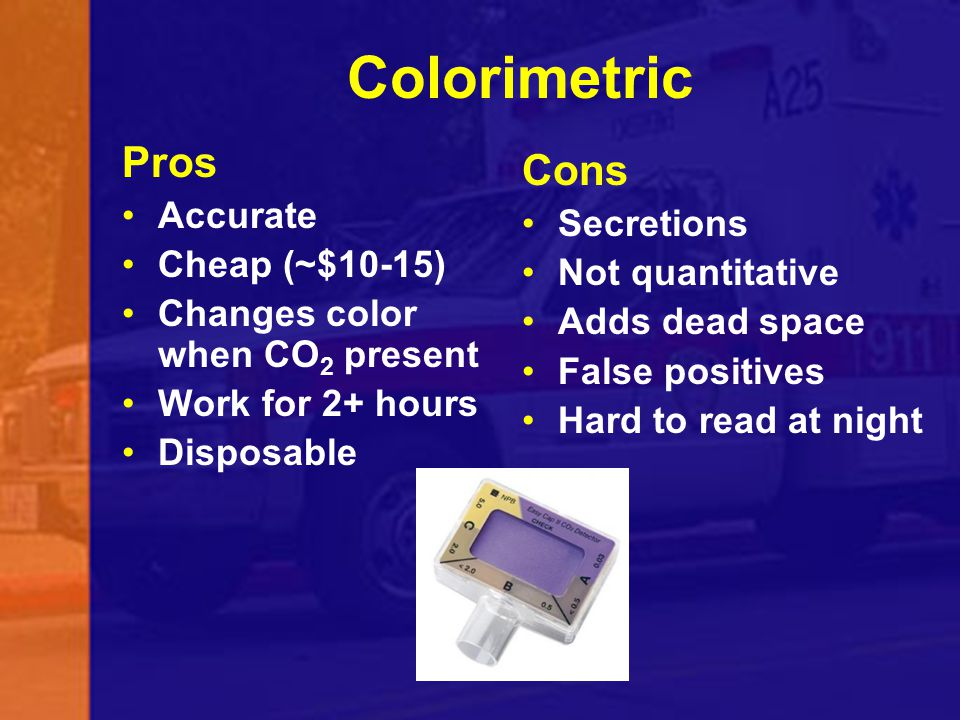 Colorimetric Pros Cons Accurate Secretions Cheap (~$10-15)
