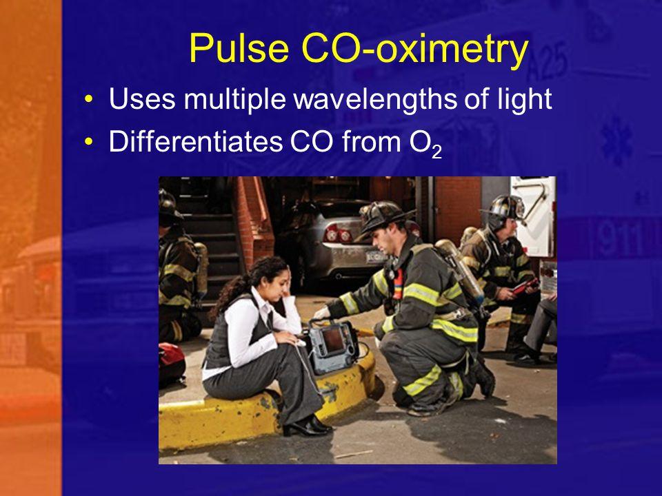Pulse CO-oximetry Uses multiple wavelengths of light
