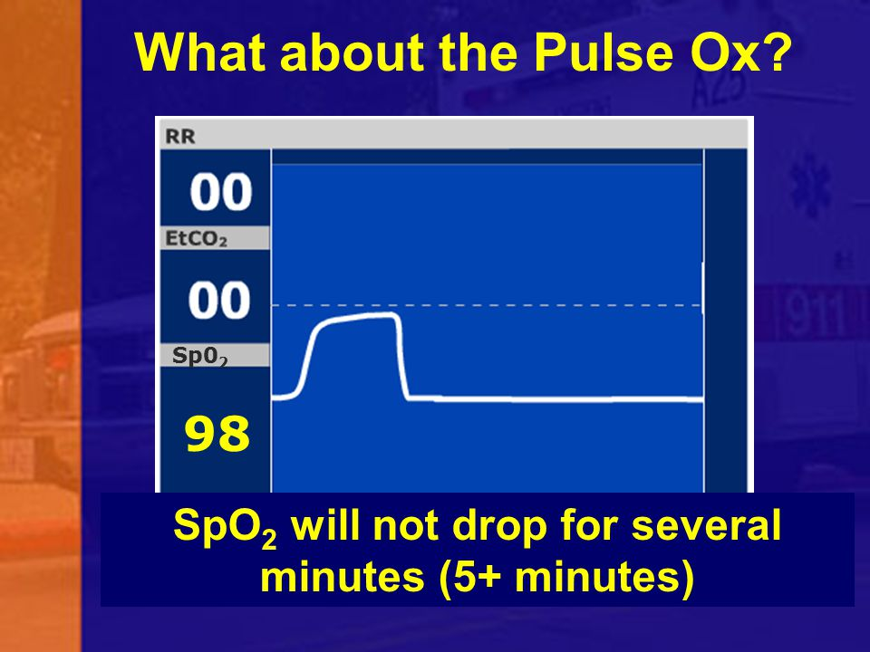 SpO2 will not drop for several minutes (5+ minutes)