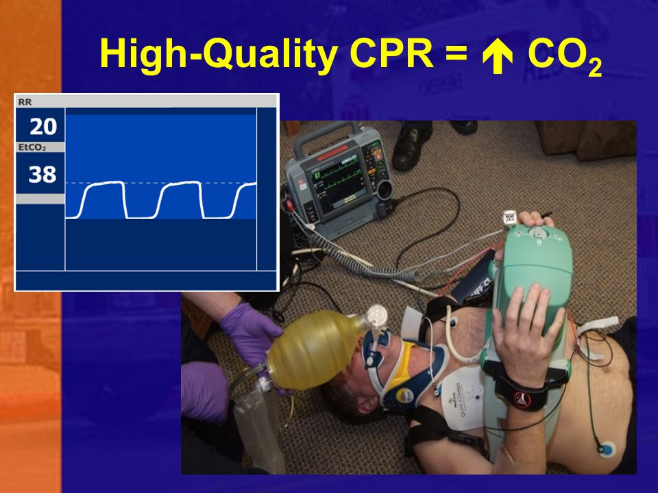 High-Quality CPR =  CO2 High quality CPR will produce near normal EtCO2 values. 78