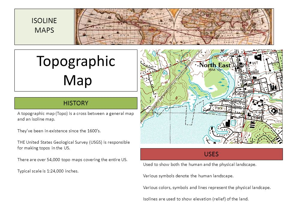 Topographic Map ISOLINE MAPS HISTORY USES