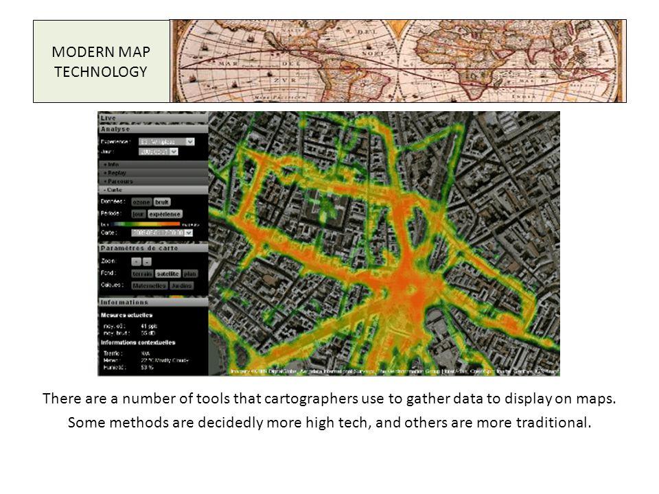 MODERN MAP TECHNOLOGY.