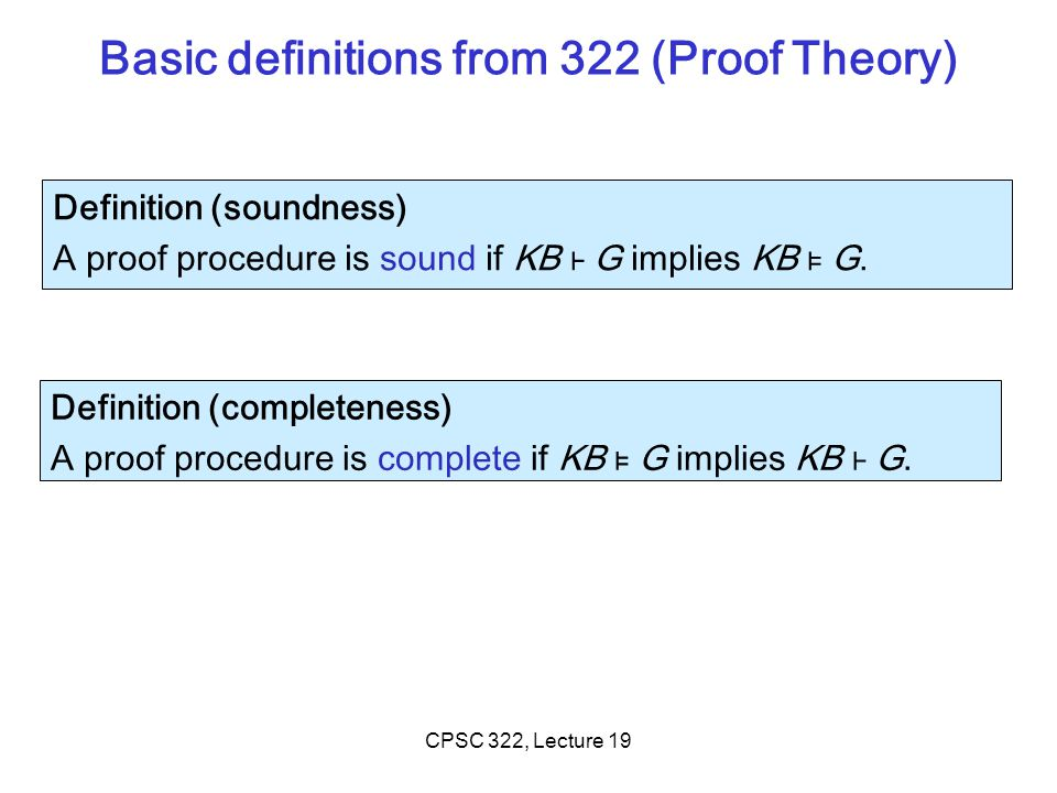 Basic definitions from 322 (Proof Theory)