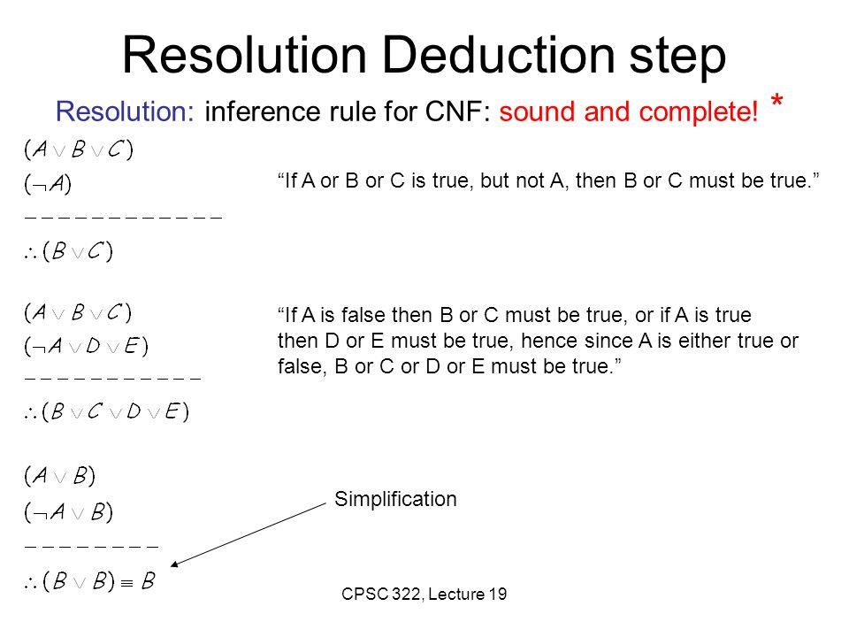 Resolution Deduction step