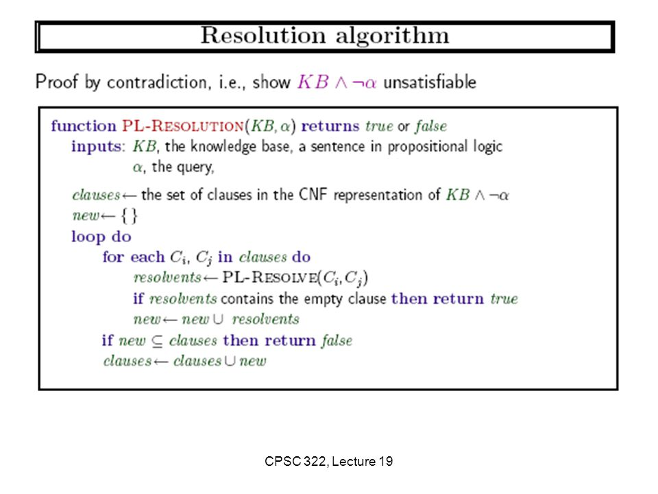 CPSC 322, Lecture 19