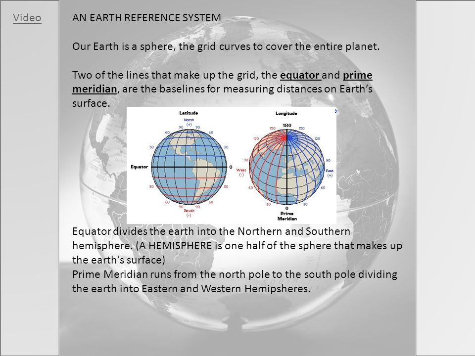 AN EARTH REFERENCE SYSTEM