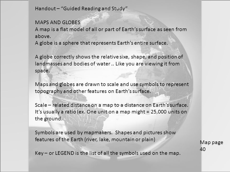 Handout – Guided Reading and Study
