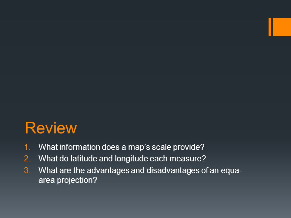 Review What information does a map's scale provide