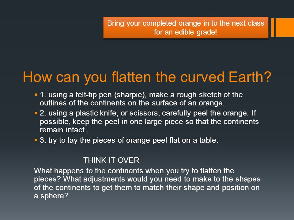 How can you flatten the curved Earth