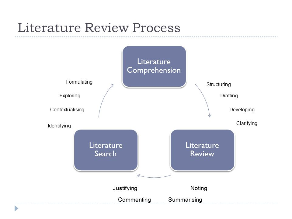 Literature review writing service process