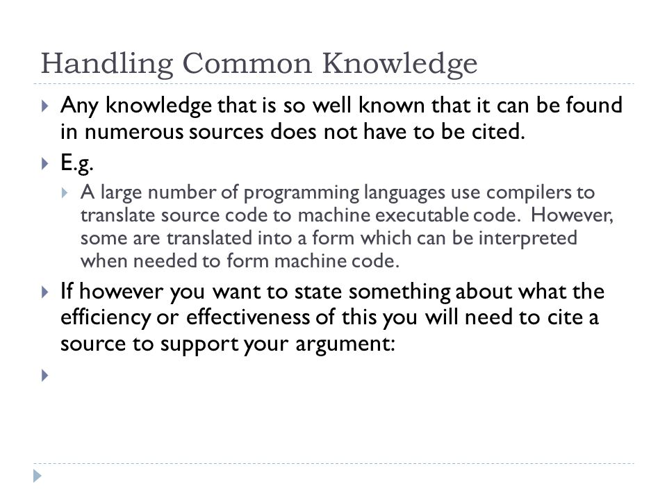 Handling Common Knowledge