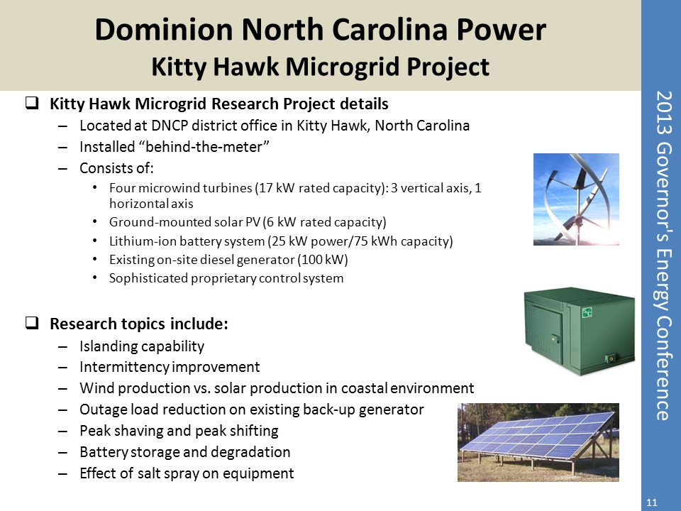 Dominion North Carolina Power Kitty Hawk Microgrid Project