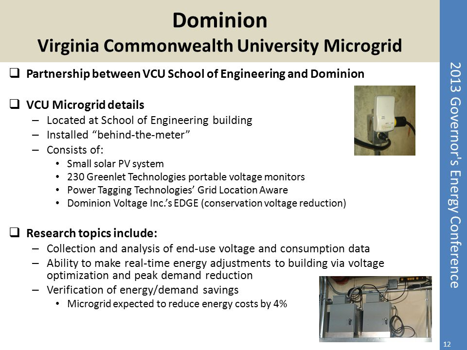 Dominion Virginia Commonwealth University Microgrid