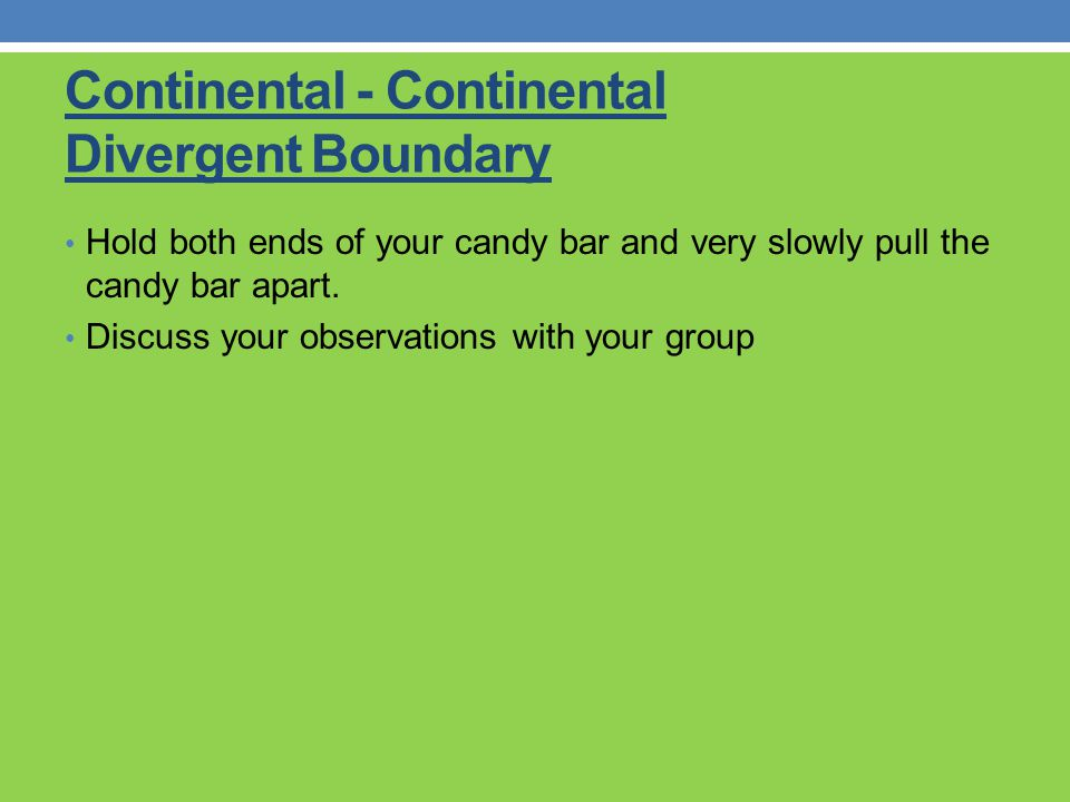 Continental - Continental Divergent Boundary