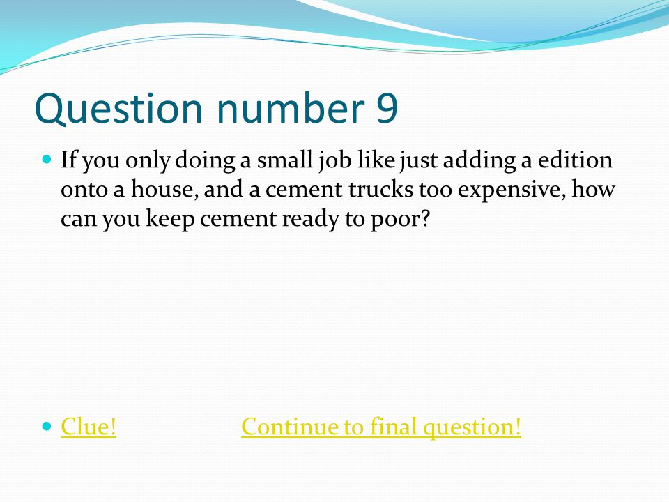 Question number 9