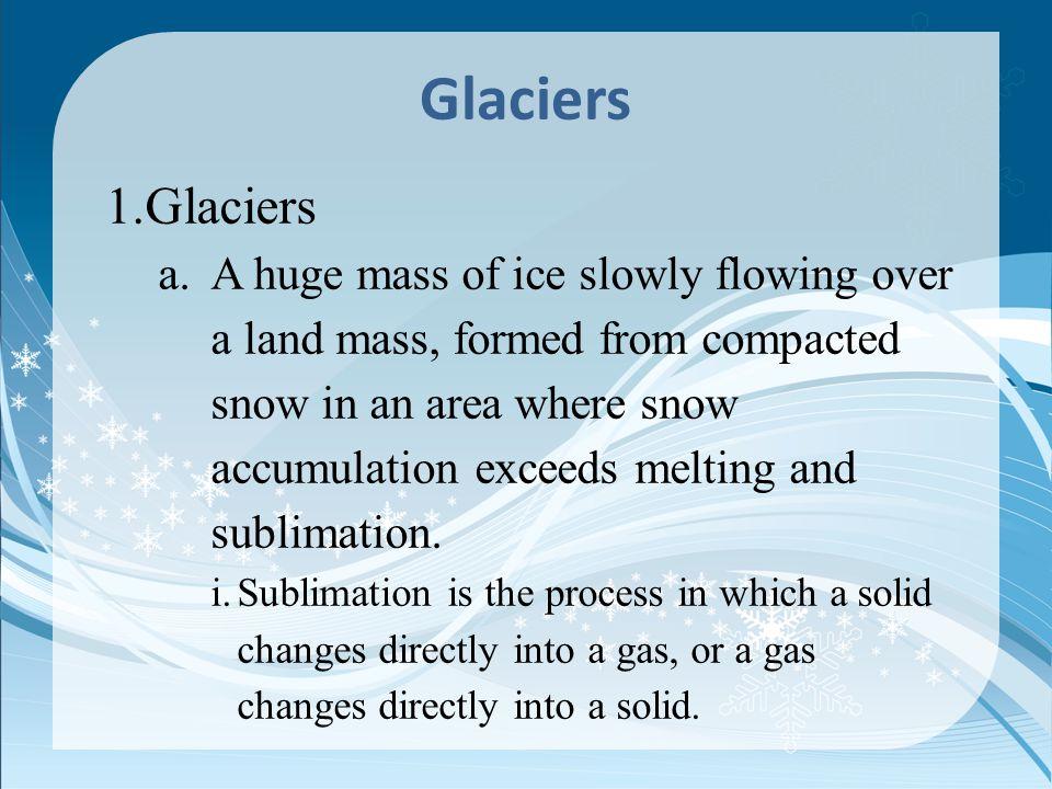 Glaciers Glaciers.