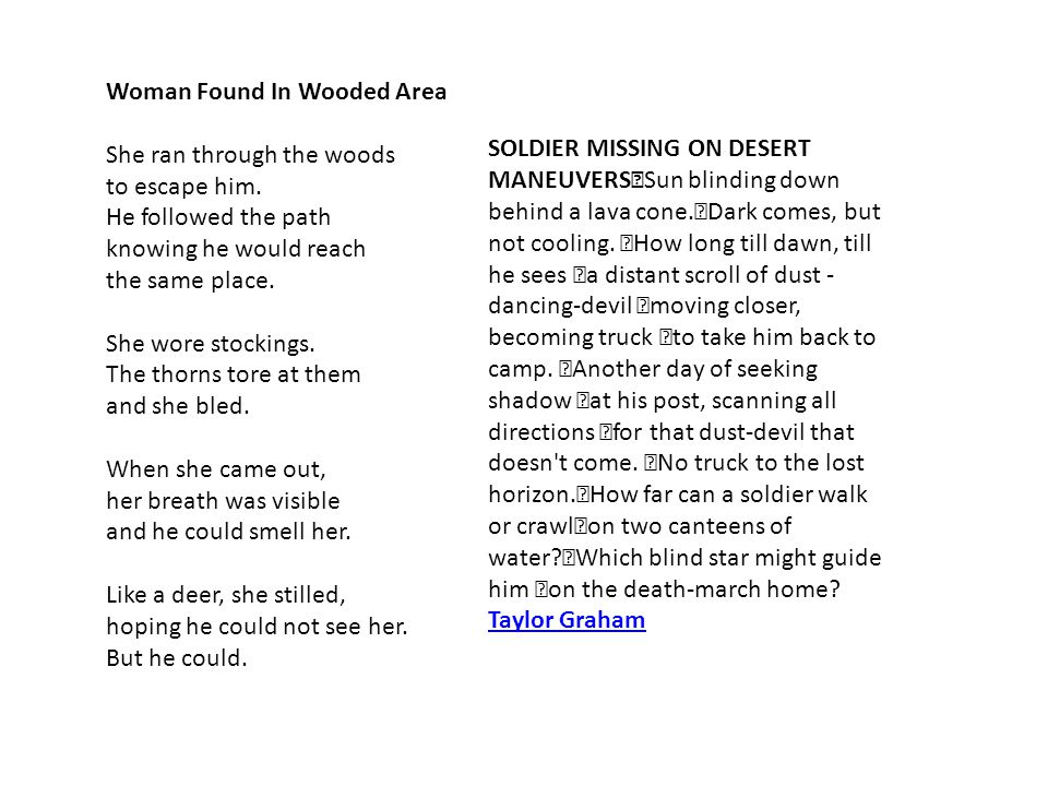 Woman Found In Wooded Area