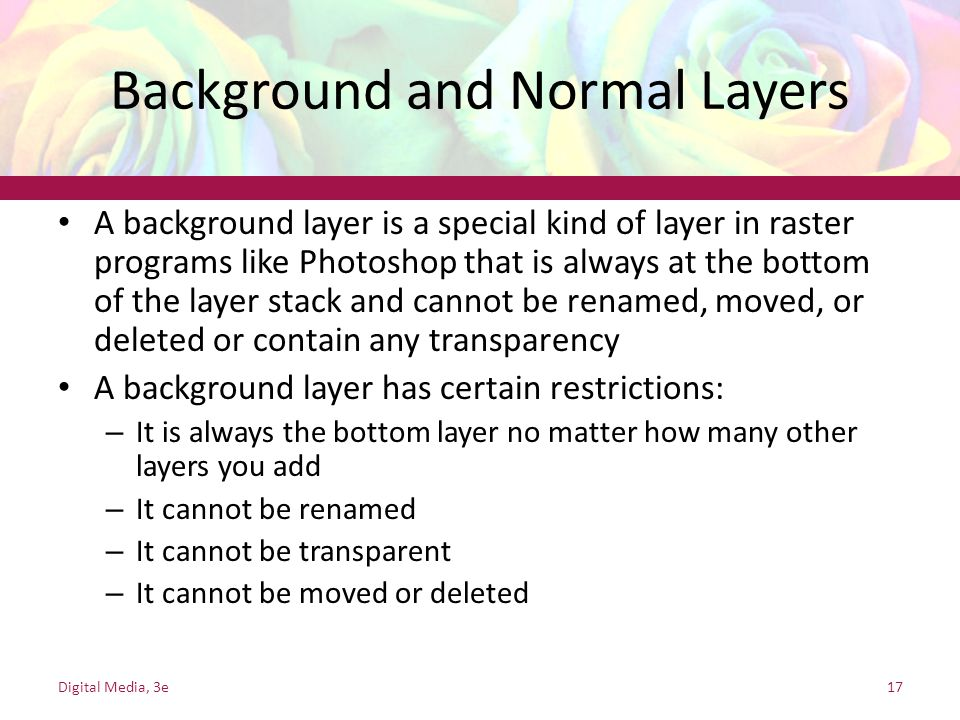 Background and Normal Layers