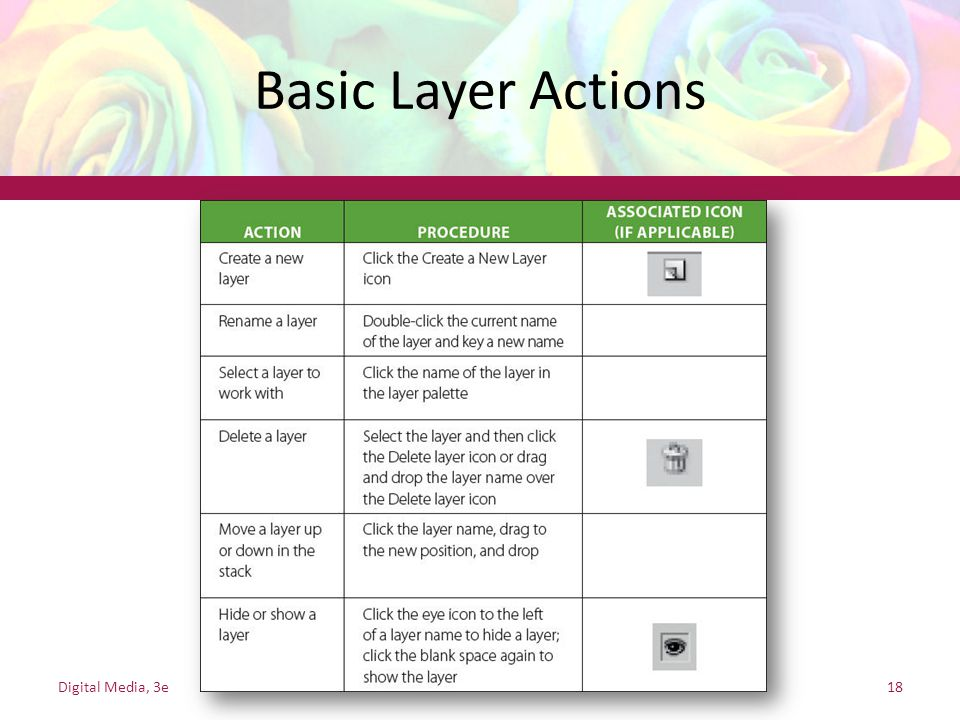 Basic Layer Actions Digital Media, 3e