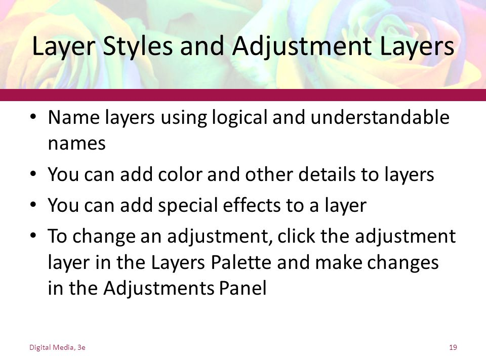 Layer Styles and Adjustment Layers