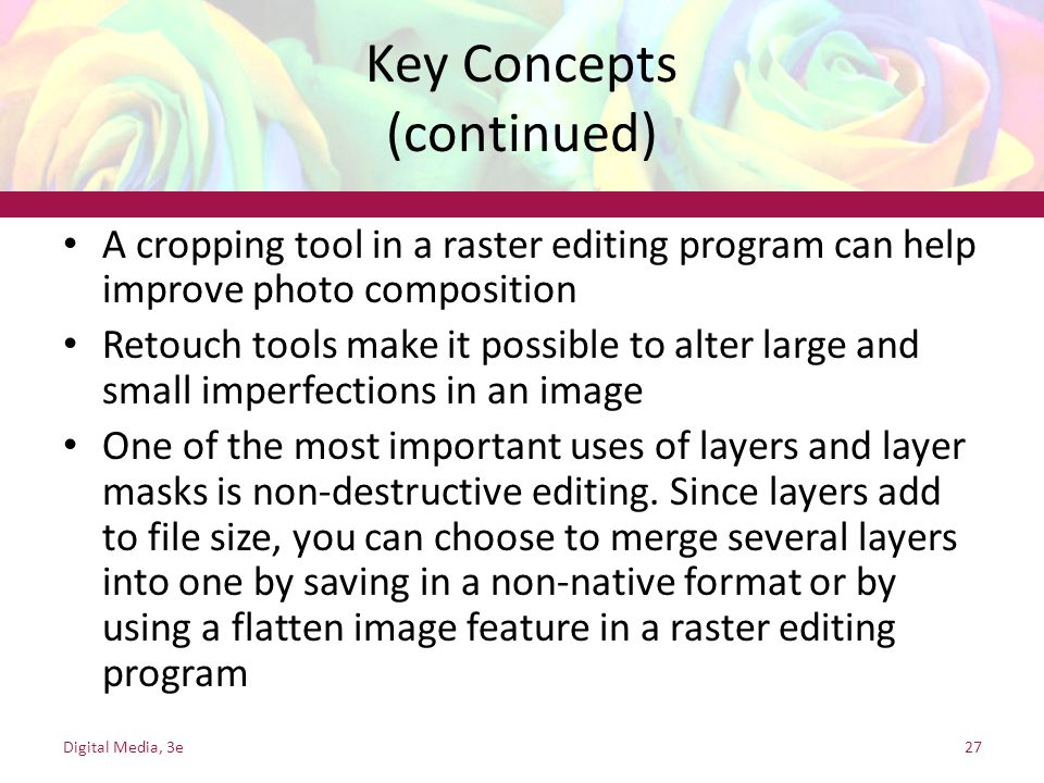 Key Concepts (continued)