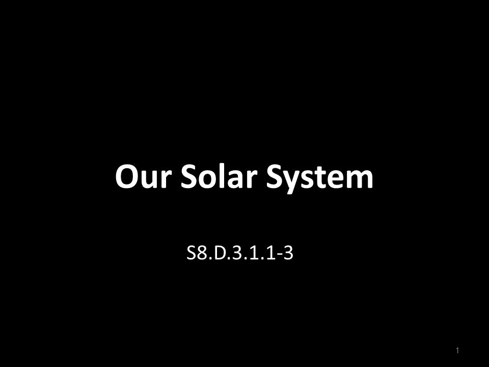 Our Solar System S8.D.3.1.1-3