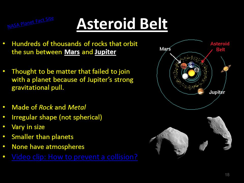 Asteroid Belt Video clip: How to prevent a collision