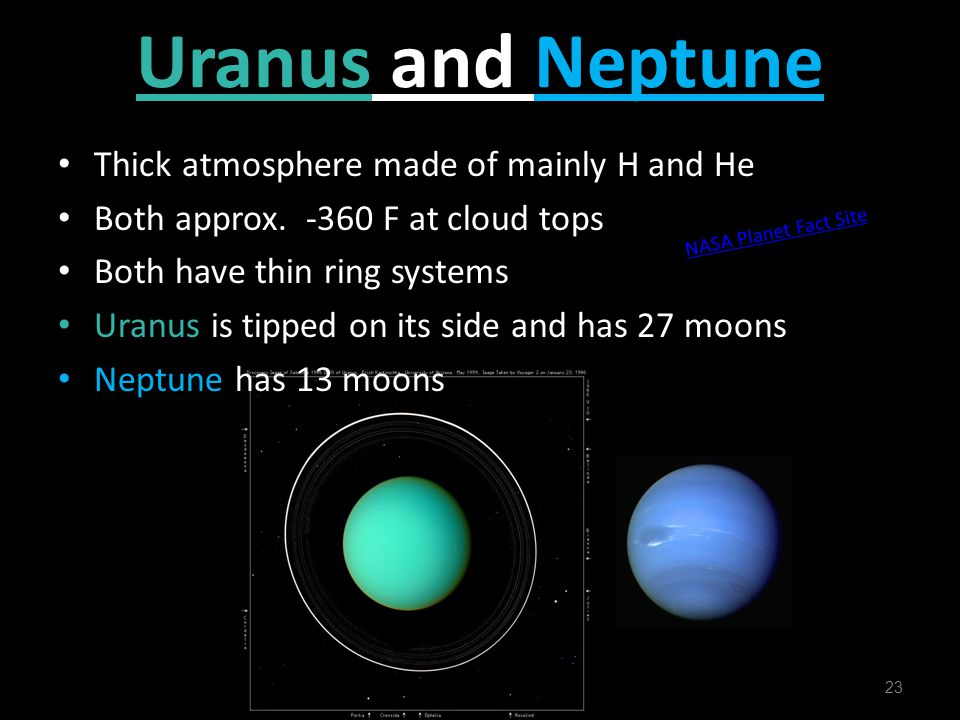 Uranus and Neptune Thick atmosphere made of mainly H and He