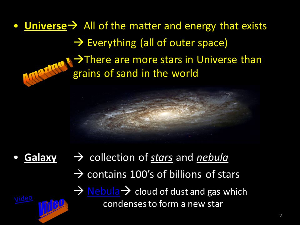 Amazing ! Video Universe All of the matter and energy that exists