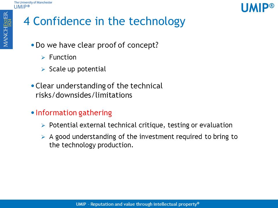 4 Confidence in the technology