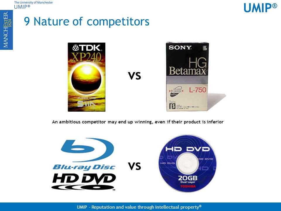 vs vs 9 Nature of competitors