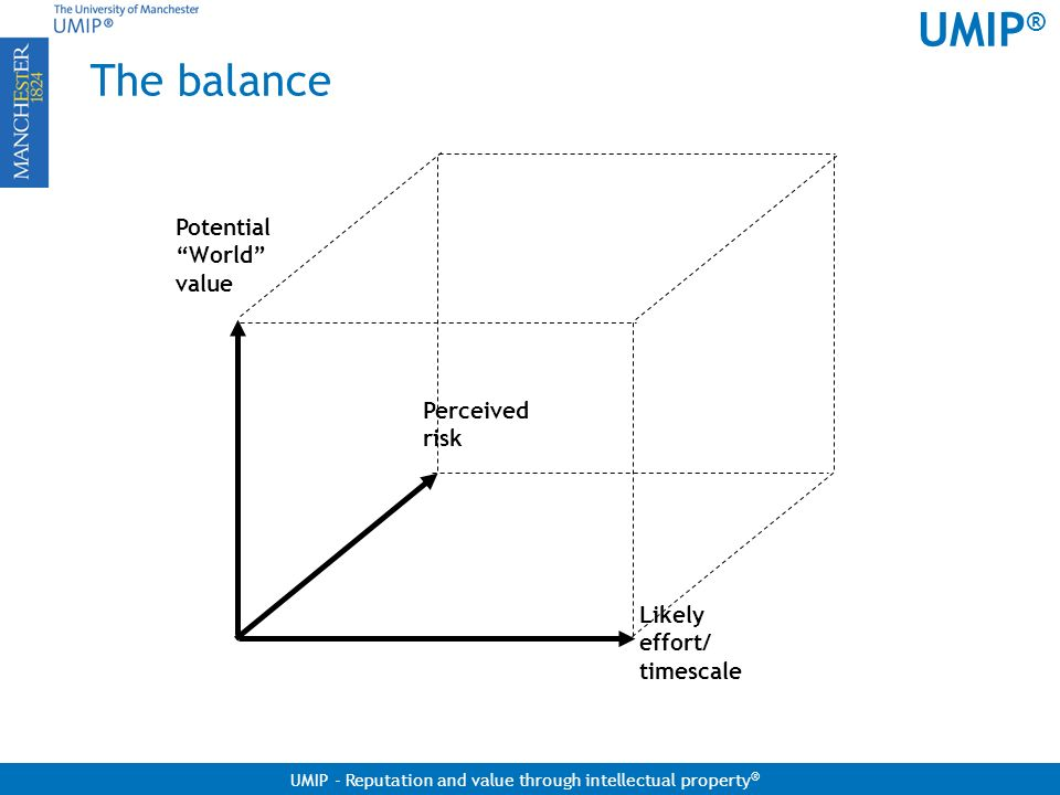 The balance Potential World value Perceived risk Likely effort/