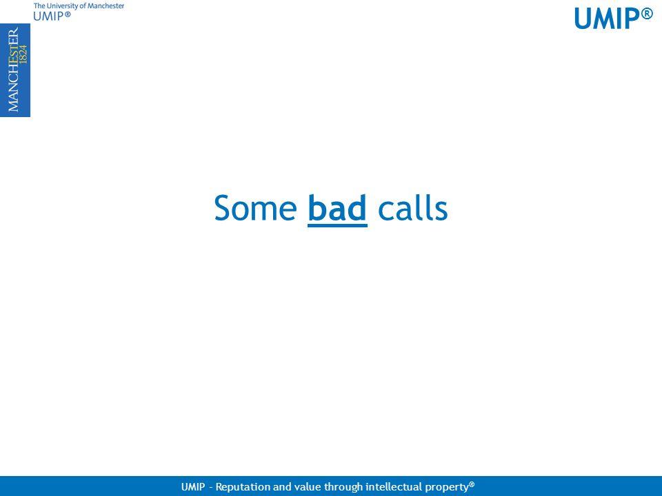 Some bad calls