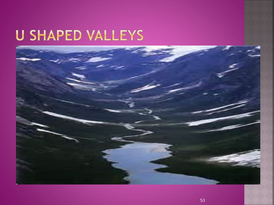U SHAPED VALLEYS