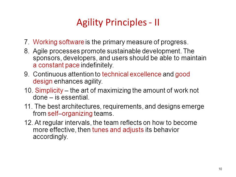 Agility Principles - II