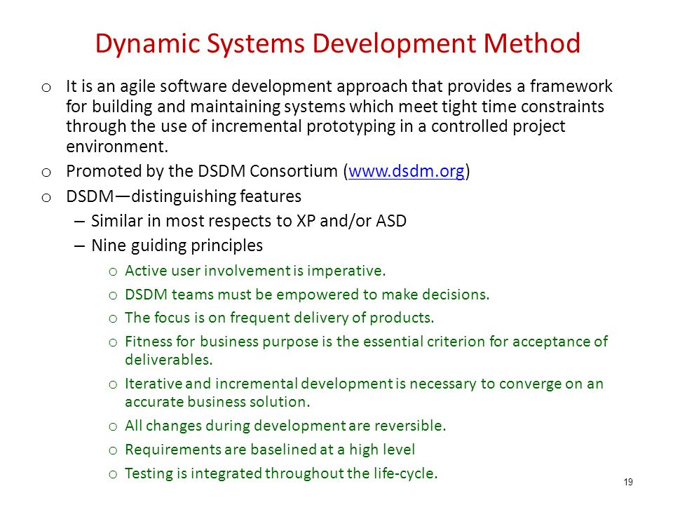 Dynamic Systems Development Method