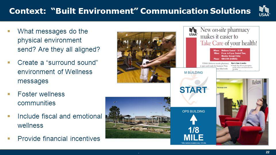 Context: Built Environment Communication Solutions