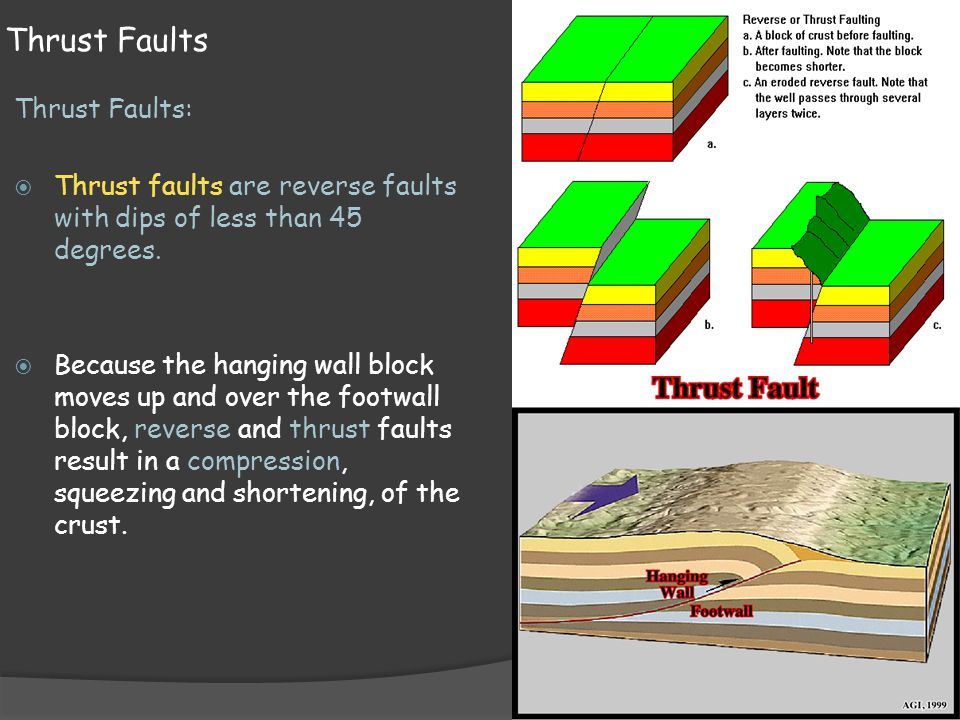 Thrust Faults Thrust Faults: